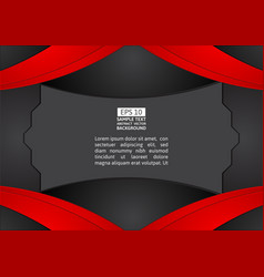 red and black color abstract background graphic vector image