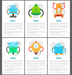 Robot and innovation set vector