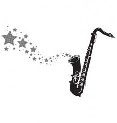 Saxophone stars vector