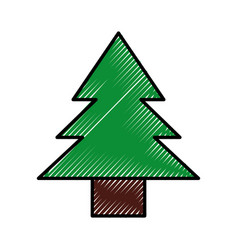 Scribble cute tree cartoon vector