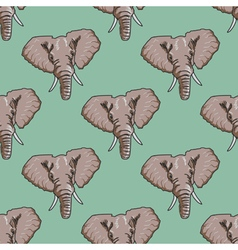 Seamless background with elephant vector