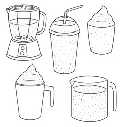 set of smoothie vector image