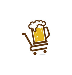 shop beer logo icon design vector image