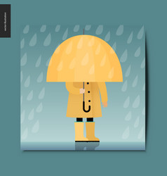 simple things - umbrella vector image