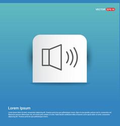 Sound volume icon - blue sticker button vector