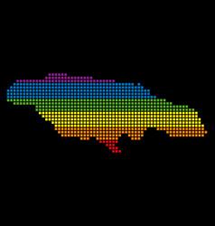 Spectrum pixel lgbt jamaica map vector