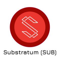 Substratum sub crypto coin vector