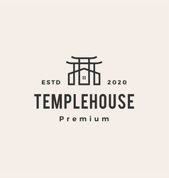 temple house hipster vintage logo icon vector image