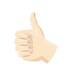 Thumb up icon cartoon style vector