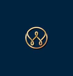 w gold logo w monogram vector image