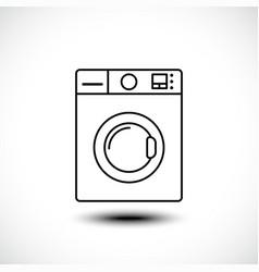 washing machine line icon home appliances symbol vector image