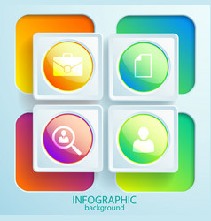 web business infographic elements vector image