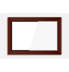 Wooden Photoframe vector