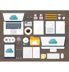 Workplace table with vector