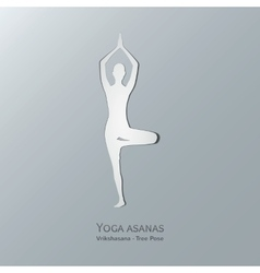 Yoga asanas Vriksasana Tree pose vector