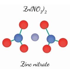 Zinc nitrate ZnN2O6 molecule vector image