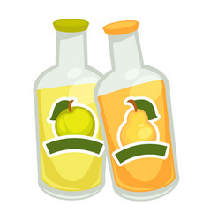 bottles with fizzy drin vector image vector image