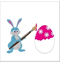 Easter bunny paint easter egg vector image