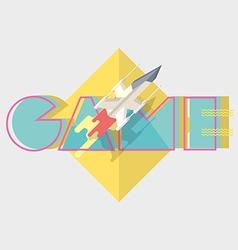 Game typographics modern vector