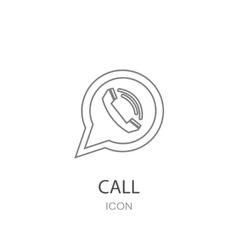 Phone icon in speech bubble vector image