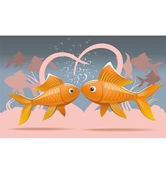 Romantic fish vector image vector image