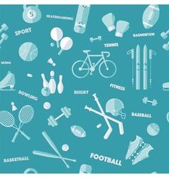 Sports Seamless Pattern Baseball Football vector image