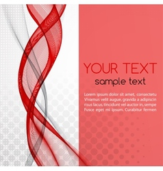 Abstract red color template background vector image