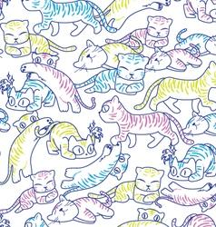 cat pattern light color vector image