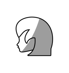female face profile character vector image vector image