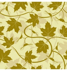 maple leaf seamless background vector image