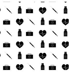 monochrome pattern medicine vector image vector image