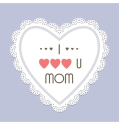 Mothers day vintage card vector image vector image