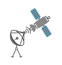 space satellite dish anntena communication signal vector image