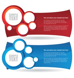 two circle banner backgrounds vector image vector image