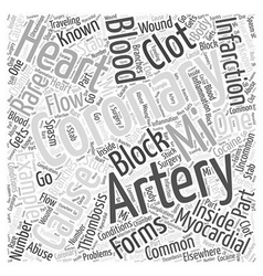 What causes myocardial infarction word cloud vector