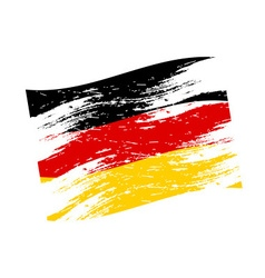 color germany national flag grunge style eps10 vector image vector image