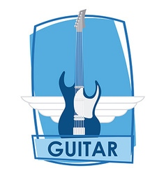 guitar electric vector image