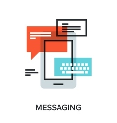 messaging vector image