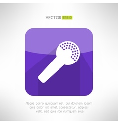Microphone icon in modern flat design Clean and vector image vector image