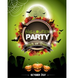 on a Halloween Party theme vector image