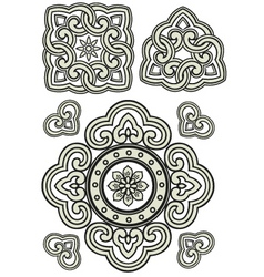 scroll ornament vector image vector image