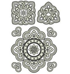 scroll ornament vector image