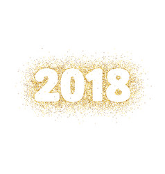 2018 glitter typography design isolated on white vector image vector image