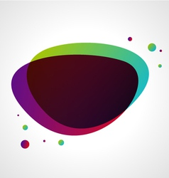 abstract bubble background vector image vector image
