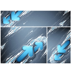 Abstract futuristic banners vector image