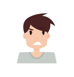 boy expression face vector image vector image