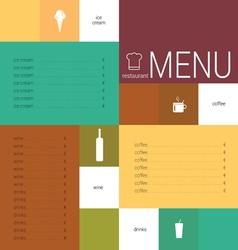 menu card color vector image