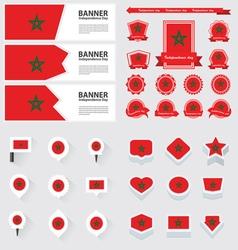SET morocco vector image vector image