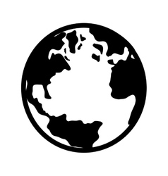 world earth planet map icon vector image