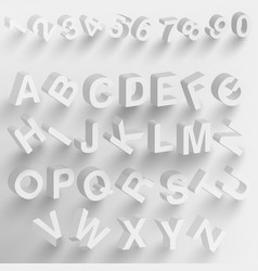 abstract 3d paper font vector image